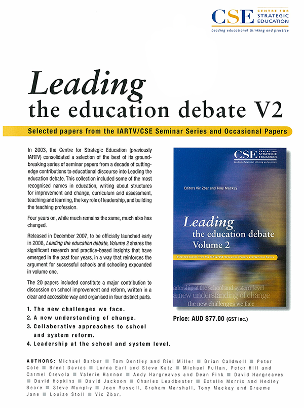Leading Education Vol 4